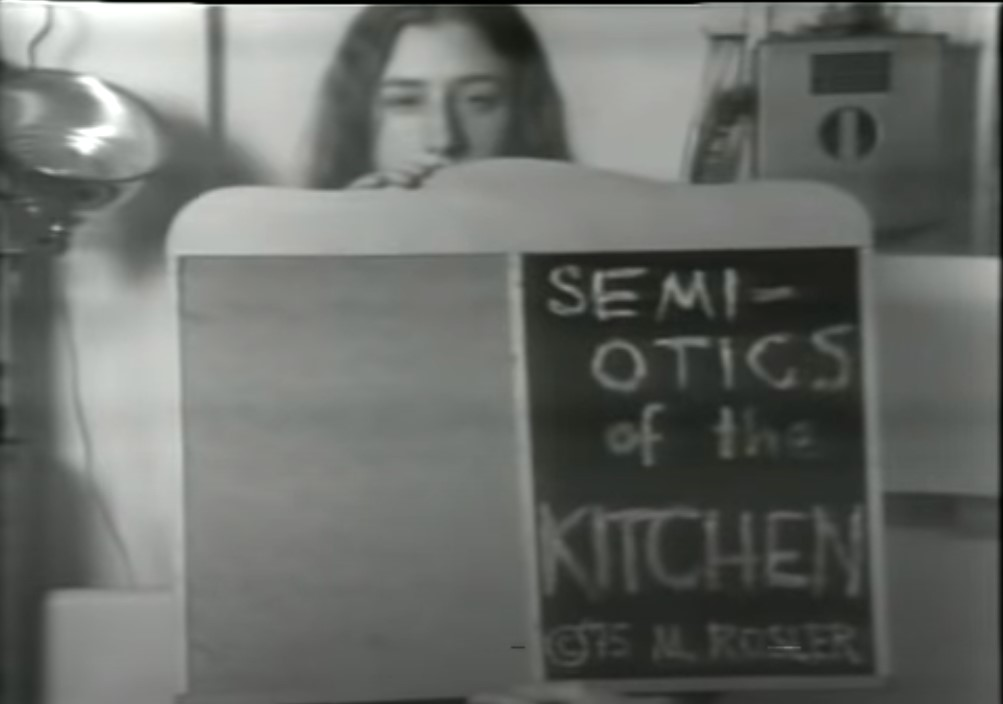 Semiotics of the Kitchen, 1975
